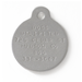 FieldKing Stainless Steel Dog Tag, 1/16 Inch Lettering