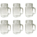 Sunshine Mason Co. Mason Jar Glass Mugs with Handles Pint Size (16 ounce, 473 mL) Regular Mouth 6 Pieces