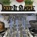 Sunshine Mason Co. Glass Mason Jar Drinking Mug set with handle, Silver lids and  Blue Stripe Straws, Set of 6