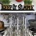 Sunshine Mason Co. Glass Mason Jar Drinking Mug set with handle, Silver lids and  White Straws, Set of 6