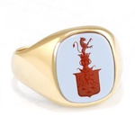 14k Gold Coat-of-Arms Signet Ring, Custom/Special Order
