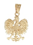 14k Gold or 925 Silver Contemporary Eagle Pendant Two-sides