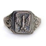 14k Gold or 925pf Silver White Eagle Ring November Uprising