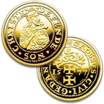 900 Fine Gold Coin - Replica of the 1577 Gdansk Siege Grosz