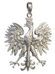 """925pf Silver Contemporary Eagle Pendant, 1.6"""" H"""