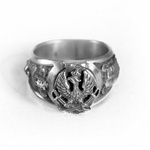 925pf Silver Polish Eagle Ring