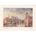Adamczyks Greeting Card - Warsaws Castle Square in the Rain