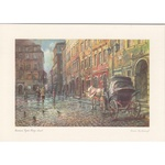 Adamczyks Greeting Card - Warsaws Old Town Market, the Cab