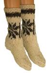 Adult Highlander Wool Socks - Edelweiss, Cream