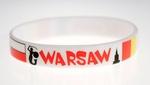 Adult's Rubber Bracelet - Warszawa / Warsaw
