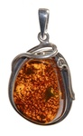 Amber Pendant Necklace # 20