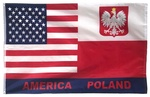 America Poland Friendship Flag, 3' x 5'