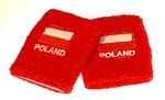Athletic Wristbands - Red Poland & Flag, set of 2