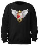 Biker Eagle - Adult Crew Neck Sweatshirt