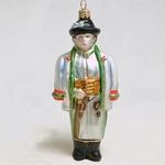 Blown-Glass Ornament - Highlander Boy