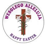 Button - Wesolego Alleluja, Happy Easter Cross