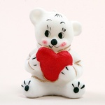 Candles - Valentine Bear with a Heart