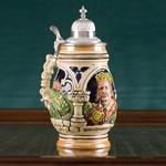Ceramic Beer Stein - King Jagiello Image, 1 liter