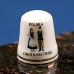 Ceramic Thimble - Kashubia Dancers