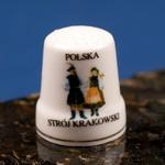 Ceramic Thimble - Krakow Dancers