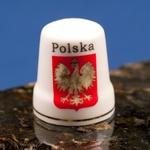 Ceramic Thimble - POLSKA Crest