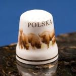 Ceramic Thimble - POLSKA & Buffalo
