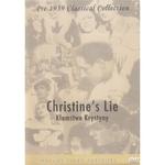 Christine's Lie - Klamstwo Krystyny DVD