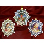 Christmas 3D Card Ornaments - Stars (B) - Set of 3
