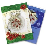 Christmas Cards - Ribbons & Bells - Set of 4