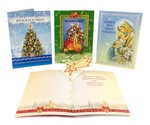 Christmas Cards - Traditional with 3-D Star, Set of 4