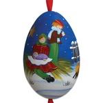 Christmas Children Hand Painted & Signed Turkey Egg Ornament
