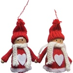 Christmas Ornaments - Winter Couple, 4 inches