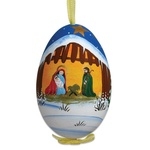 Christmas Stable Hand Painted & Signed Turkey Egg Ornament