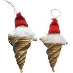 Christmas Straw Ornaments - Pair of Santa-Icicles
