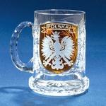 Clear Crystal - Mug with POLSKA Eagle on Amber Shield