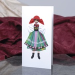 Cloth Figure Greeting Card - Mazowsze, Female
