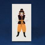Cloth Figure Greeting Card - Mazowsze, Male