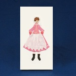 Cloth Figure Greeting Card - Rzeszow, Female