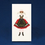 Cloth Figure Greeting Card - Piotrkow, Female
