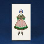Cloth Figure Greeting Card - Pyrzyce, Female