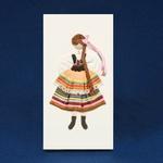 Cloth Figure Greeting Card - Lublin, Female