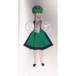 Cloth Figure Greeting Card - Kaszuby, Female