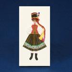 Cloth Figure Greeting Card - Kurpie, Female