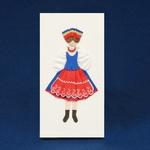 Cloth Figure Greeting Card - Kujawy, Female