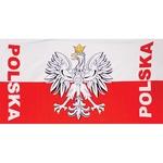 Cotton Beach Towel - POLSKA with Eagle
