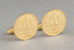 Cuff Links - Polish Eagle, Brushed Gold Plated