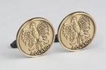 Cuff Links - Polish Eagle, Antique Bronze Plated