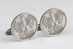 Cuff Links - Polish Eagle, Antique Silver Plated