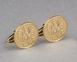 Cuff Links - Polish Eagle, Satin Gold Plated
