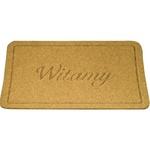 Doormat - Witamy (Welcome), Light Beige Color 15x23 inches